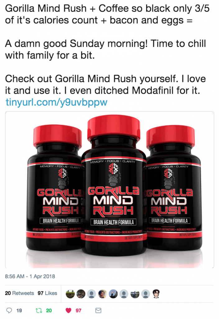 Gorilla Mind Rush Reviews Twitter Post